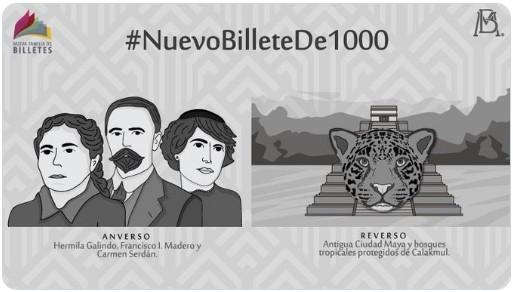 Nuevos billetes de mil y 100 pesos tendrán estos personajes; conócelos