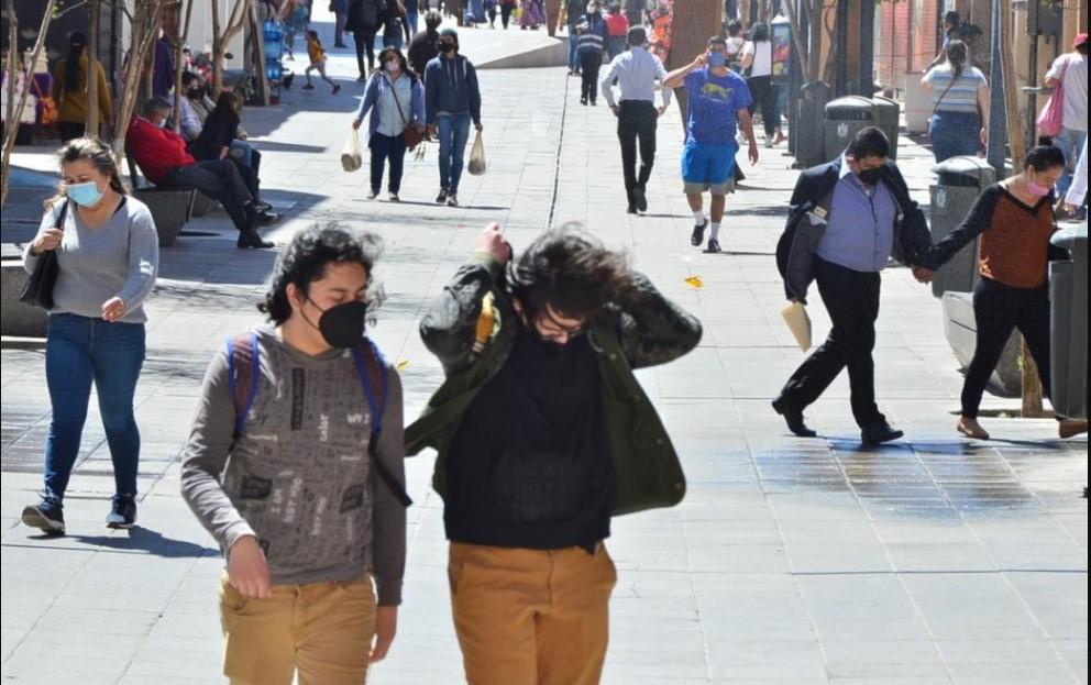 Aviso preventivo por fuertes ráfagas de viento y entrada de frente frío