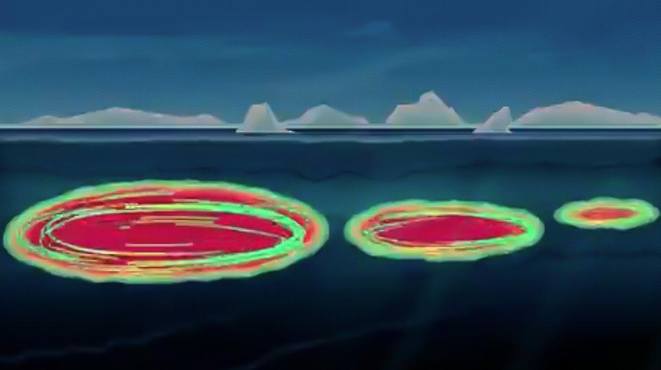 Hallan peligrosas «bombas de calor» que destruyen el hielo marino del Ártico
