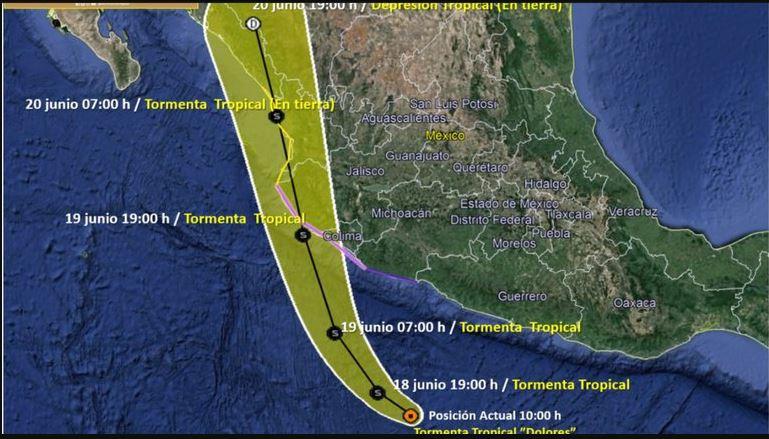Alerta por la formación de la tormenta tropical Dolores: podría convertirse en huracán en el Pacífico