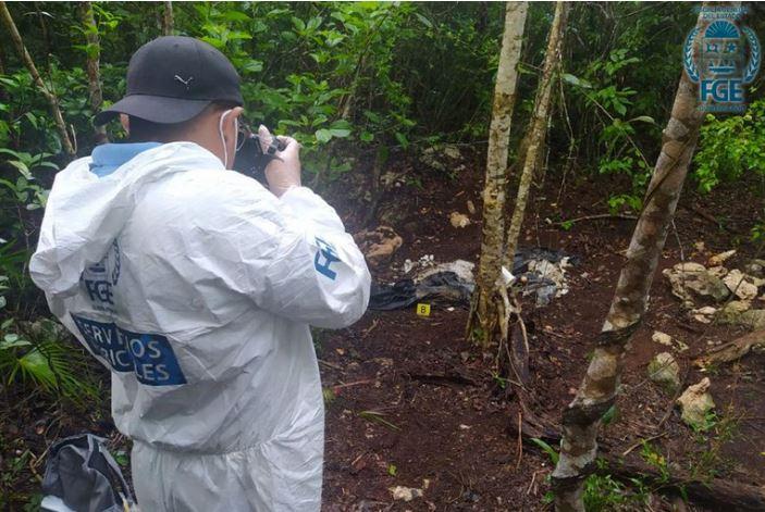Hallaron tres fosas clandestinas con restos humanos en selva de Quintana Roo